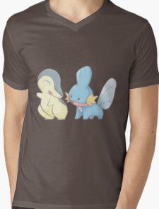 Cyndaquil and Mudkip Mens V-Neck T-Shirt