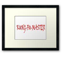 KUNG FU MASTER Framed Print