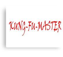 KUNG FU MASTER Canvas Print