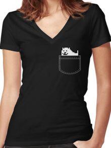 Undertale Dog Pocket Tee Women's Fitted V-Neck T-Shirt