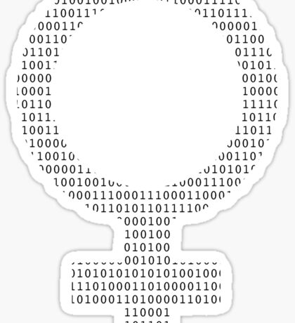 Computer Science Black on White Sticker