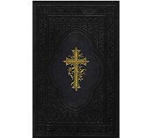 Vintage Elegant Ornate Victorian Gold Cross Photographic Print