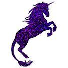Blue and Purple Unicorn by sorakaji
