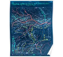 Civil War Maps 1459 Position of Union Army 30th June 10 1 2 am and 2 1 2 pm Inverted Poster