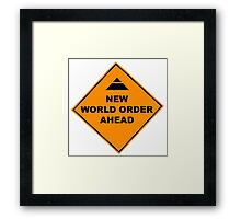 NWO - STRAIGHT  AHEAD Framed Print