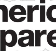 american apparel Sticker