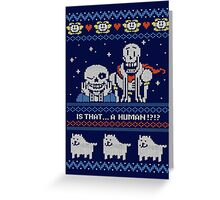 Sans and Papyrus Festive Sweater Design Greeting Card