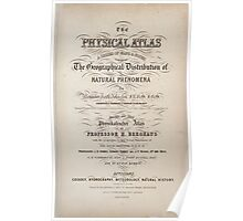 Civil War Maps 1791 The physical atlas a series of maps notes illustrating the geographical distribution of natural phenomena Poster