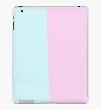 Pastel blue and pink iPad Case/Skin