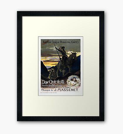 Vintage French Don Quixote Opera Framed Print