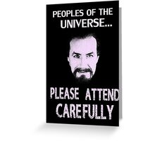 Doctor Who - Anthony Ainley Master Greeting Card