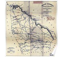 Civil War Maps 1874 Union District South Carolina Poster