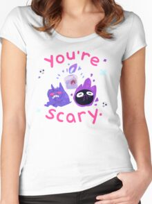 You're scary. (Ghost pokemon) Women's Fitted Scoop T-Shirt