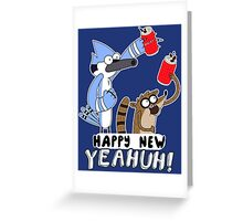 Regular Show - Happy New YEAHUH! Greeting Card