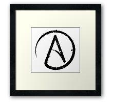 ATHEISM SYMBOL Framed Print