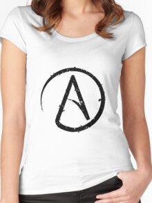ATHEISM SYMBOL Women's Fitted Scoop T-Shirt