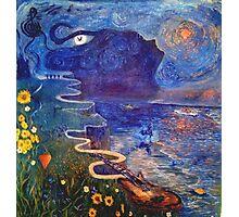 The Beatles meet Van Gogh Photographic Print
