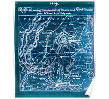 Civil War Maps 1039 Map shewing sic movements of Union and Rebel armies from 30th June to 13th July 1863 Inverted Poster