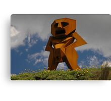 Rusty Man, Sculptures By The Sea, Australia 2010 Canvas Print