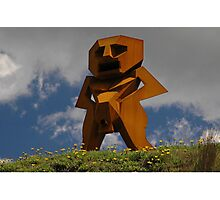Rusty Man, Sculptures By The Sea, Australia 2010 Photographic Print
