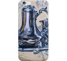 Silverware on toile. Oil on linen 2012Ⓒ iPhone Case/Skin