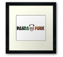 Panda family. Framed Print