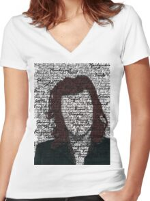 Harry Styles - One Direction Women's Fitted V-Neck T-Shirt