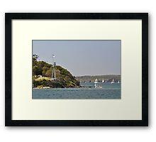 HMAS Sydney Monument & Tall Ships Departure 2013 Framed Print