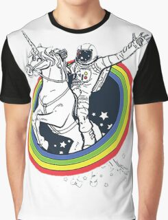 Astronaut riding a unicorn Graphic T-Shirt