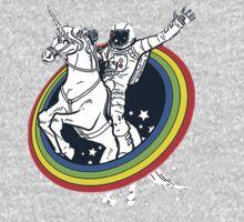 Astronaut riding a unicorn One Piece - Short Sleeve