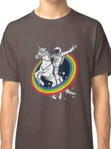 Astronaut riding a unicorn Classic T-Shirt