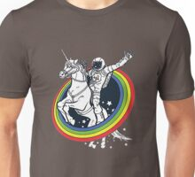 Astronaut riding a unicorn Unisex T-Shirt