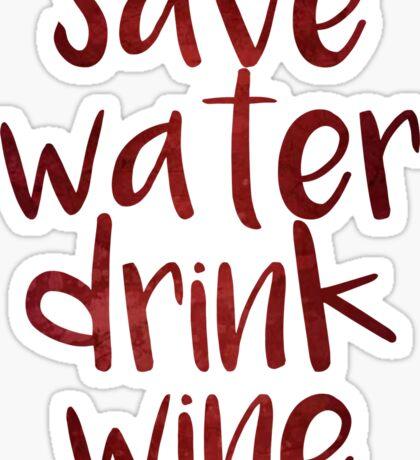 Drink Wine Sticker