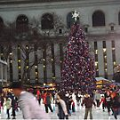 Skating Rink, Christmas Tree, Bryant Park Skating Rink, Bryant Park, New York City by lenspiro