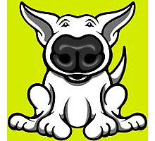 English Bull Terrier Cartoon Big Nose Photographic Print