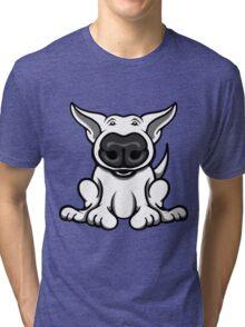 English Bull Terrier Cartoon Big Nose Tri-blend T-Shirt