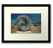 Spiral 2 @ Sculptures By The Sea, 2011 Framed Print
