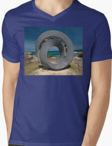 Spiral 2 @ Sculptures By The Sea, 2011 Mens V-Neck T-Shirt