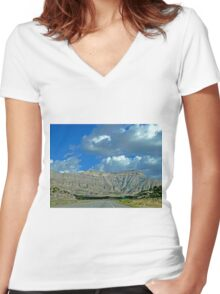 Roan Cliffs, Garfield County, Colorado Women's Fitted V-Neck T-Shirt