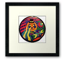 Psychedelic Panda Framed Print