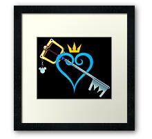 Kingdom Hearts - Heart and Sword Framed Print