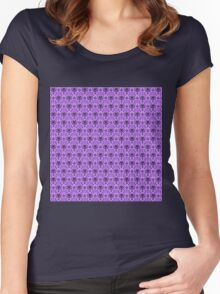 The Haunted Mansion Wallpaper - Light Purple  Women's Fitted Scoop T-Shirt