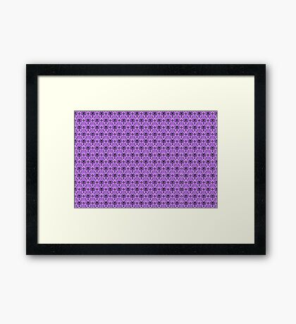 The Haunted Mansion Wallpaper - Light Purple  Framed Print