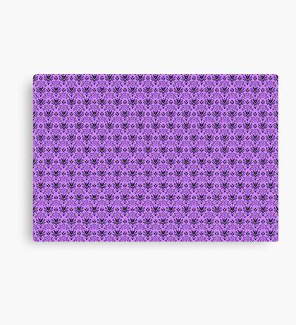 The Haunted Mansion Wallpaper - Light Purple  Canvas Print