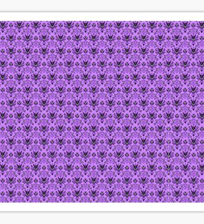 The Haunted Mansion Wallpaper - Light Purple  Sticker