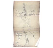Civil War Maps 1857 Topographical sketch of the country adjacent to the turnpike between Nolensville and Chapel Hill Tenn Poster