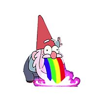 Gravity Falls- Barfing Gnome Photographic Print