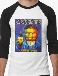 Van Gogh Absinthe Poster Men's Baseball ¾ T-Shirt