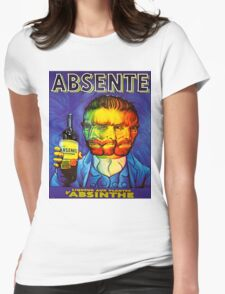 Van Gogh Absinthe Poster Womens Fitted T-Shirt