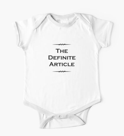 The Definite Article One Piece - Short Sleeve